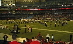 RU Marching Band at Halftime