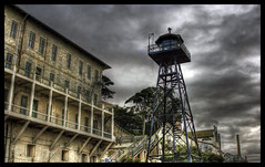 Alcatraz Guard Tower (vgm8383) Tags: sanfrancisco sky storm building tower rock clouds canon rebel nationalpark escape guard prison smokestack alcatraz therock prisoner alcatrazisland federalprison guardtower xti 400d rebelxti flickrplatinum diamondclassphotographer flickrdiamond megashot guardtowers seenonflickr