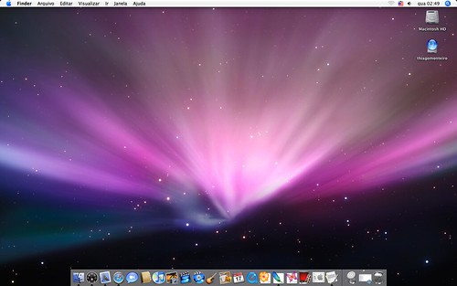 mac os wallpaper. Mac os x 10.4 wih leopard`s