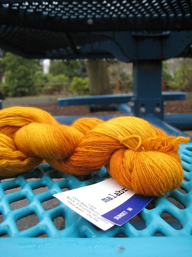 Malabrigo lace - sunset