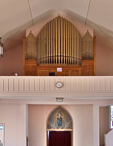 Immaculate Conception Roman Catholic Church, in Saint Mary, Missouri, USA - pipe organ