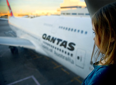 qantas spells home now (sesame ellis) Tags: girl sunrise leaving airport child lounge mykid lax qantas littlekid year4 racheldevine wwwracheldevinecom ihopemyfriendsdontforgetaboutme