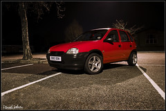 Vauxhall Corsa B - Generic Shot (Daniel Hodson) Tags: uk b red dan car wheel night canon 350d automobile flickr unitedkingdom daniel aib automotive peter canon350d canoneos350d bournemouth opel freelance vauxhall hodson visualcommunication corsab hoddo artsinstitutebournemouth danielpeterhodson danielhodson theartsinstitutebournemouth dhodson wwwdanielhodsoncouk httpwwwdanielhodsoncouk