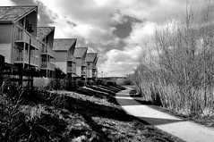 Lake Dwellings at Leybourne. (Crazy Kernow) Tags: houses bw kent shadows leybourne nikond300 spiritofphotography flickrbestpics