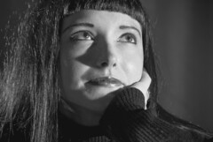 Beth Dillion, office assistant (Peter Jennings (photographer)) Tags: old white black film nikon noir beth cleveland 1940 d200 hurrell dillion
