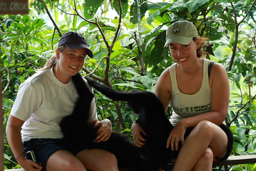 Eliana and Me with the spider monkeys