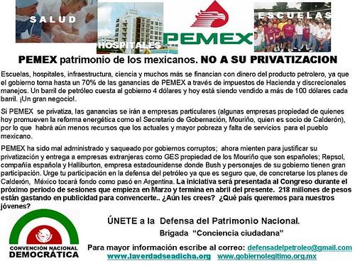 cartel no a la privatizacion de pemex4
