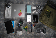 In my bag 04 08 (litmus ) Tags: moleskine apple lumix drive mac support portable laptop nintendo hard ds panasonic modem receipt pro technician toshiba sharpie logitech inmybag sysadmin dymo iphone administrator golla dmclx1 thumbdrive macbook ispinternetserviceprovider