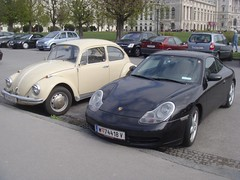 Porsche 911 996 Carrera and Volkswagen Beetle