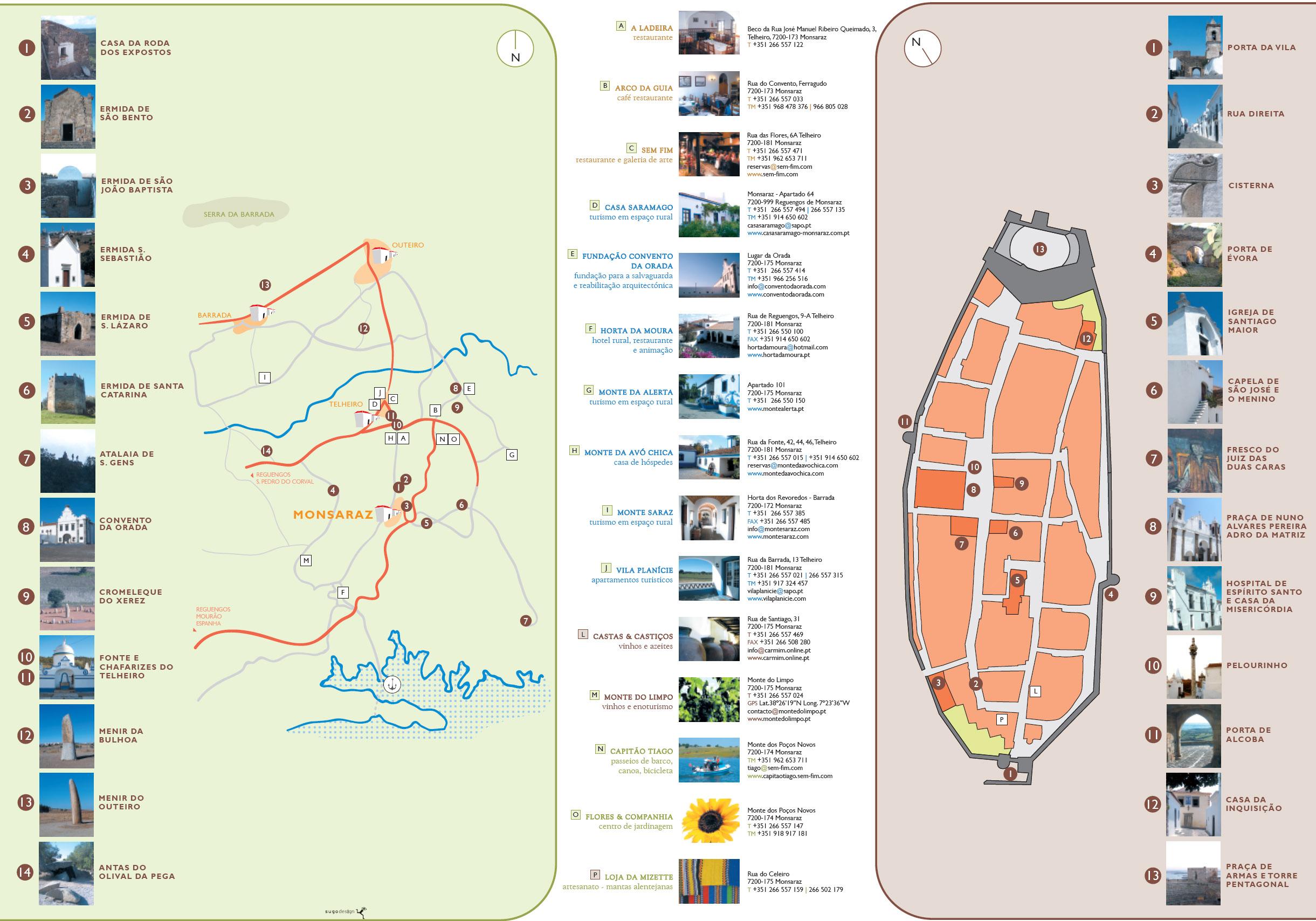 mapa de monsaraz Pedestrianismo e Percursos Pedestres: Passeio Pedestre