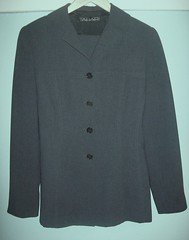Tahari Women's Gray Suit Size 4 $60 (From My Home To Yours) Tags: gray skirt womens suit jacket charcoal tahari size4