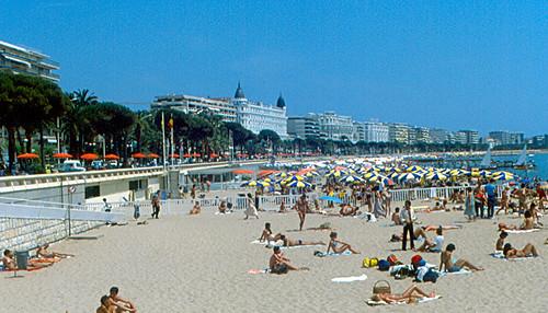 Cannes - Beach and Hotels