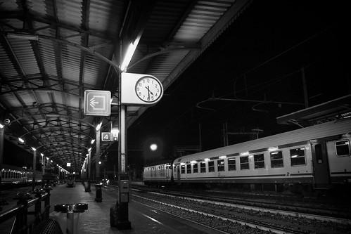 Italian Train Station by Night
