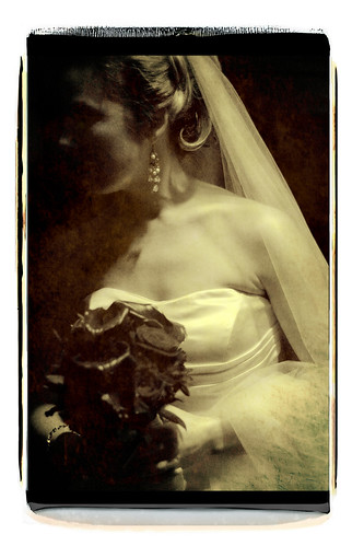polaroid transfer wedding image