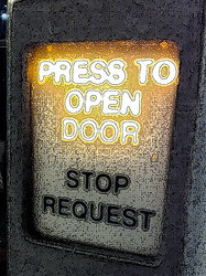Press to Open Door by Vagabond Shutterbug