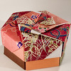 Decorative Hexagonal Origami Gift Box With Lid: # 10
