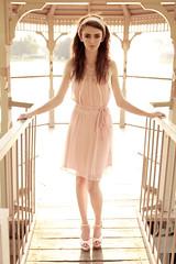Brightlight (Ryan Sheehy) Tags: sunset girl beautiful vintage hair photography model dress ryan makeup markii sheehy redscarf alienbees ryansheehy emmacalvin