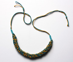 Cotton knitted necklace or bracelet teal and yellow (memake) Tags: blue summer fashion yellow necklace beads handmade turquoise teal craft yarn textile cotton bracelet etsy knitted accessory handmadde memake uketsy ukhandmade etsyeuro memakecouk memakeetsycom