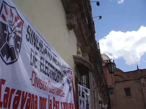 SME en plaza de armas Zacatecas