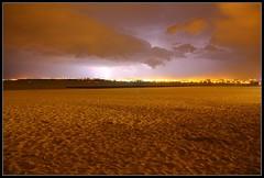 La Rochelle. (nicolas.pawlak) Tags: by night la maritime nuit plage orage charente rochelle clair minimes