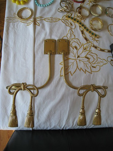 Vintage Gold Curtain Tiebacks