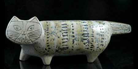 Lisa Larson Pottery Cat