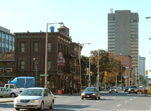 Hulk II Movie Set, Main Street, Hamilton (image source: Flickr)
