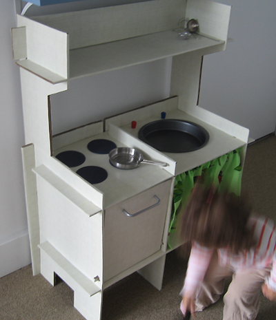 DIY cardboard kitchen