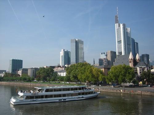Frankfurt skyline from Eiserner Steg