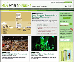 A photo of mine on Worldchanging.com homepage 11/13/07 (drewsaunders) Tags: vanity creativecommons 2007 worldchanging usgbc allisvanity greenbuild2007