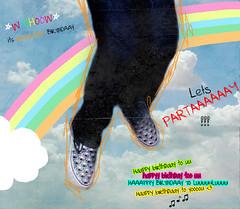 YAY HAPPY BDAAY ORANGEYA !!!!!! (S) Tags: birthday cloud happy jump rainbow shoes vans omg orangeya imtheluckiestpersontohaveherasmysisterd noimtheluckiestpersontohaveyouasmysister