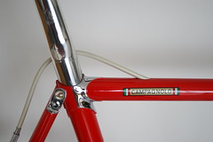 Cinelli Super corsa (Racing snake1) Tags: columbus red classic bike bicycle cycling stem bars strada ride time omega delta super racing headset chain chrome cycle frame brakes pedals rims forks regal saddle tubs crank corsa hubs vittoria freewheel seatpost campagnolo 7s benotto cinelli slx hardox corsarecord cinelli1r powergrade