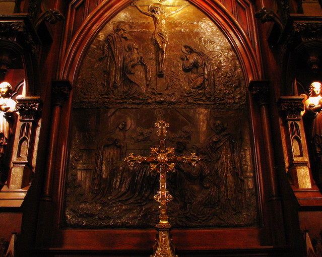 Cross and Carving of Christ's Crucifiction