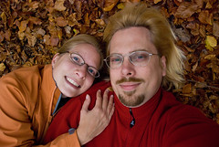 Mark and Deb in the leaves