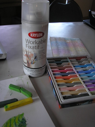 chalk pastels fixative