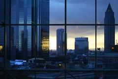 Frankfurt skyline (catb -) Tags: sun night buildings germany hotel evening frankfurt fa