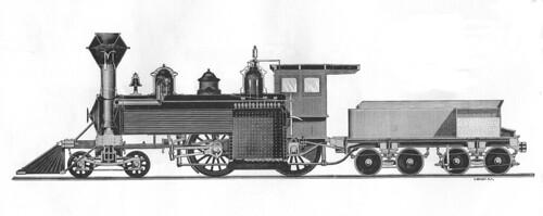 Baldwin 4-4-0 1871 cutaway