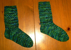 Rushing Rivulets Socks in Undertow Bamboo Yarn