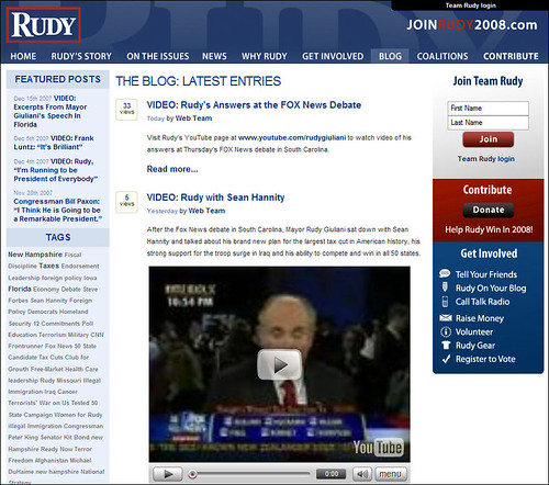 Rudy Giuliani Blog on the South Carolina Debate