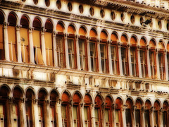 The Arches of St Marks Sq, Venice (Michelle in Ireland) Tags: venice italy building arches rows orton stmarkssquare stmarkssq thatsclassy