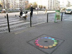 Quai de la Marne - Paris (France) (Meteorry) Tags: street paris france art europe pavement police sidewalk rue manif trottoir cercle marne gendarmerie meteorry ourq quaidelamarne chromatique cerclechromatique rueevette canaldourq