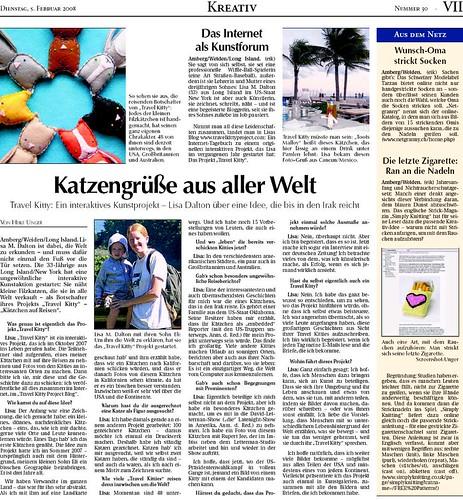 German Newpaper Article