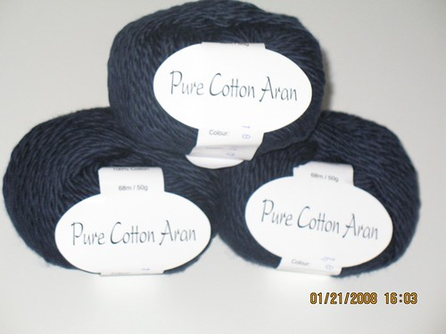 Pure Cotton Aran