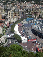Part of the F1 track at Monaco