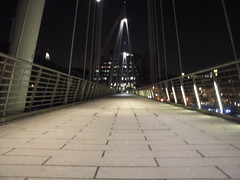Waterloo Bridge, looking north at 3am