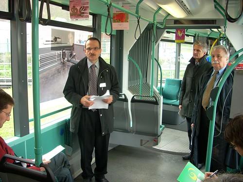 Verlad BERNMOBIL-Trams in Basel, 15.4.2007