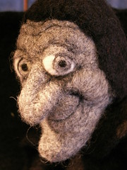 It's Igor in Needle Felted Wool! (feltalive) Tags: wool alaska eyes needle needlefelting artdoll alaskan feldman needlefelt wasilla needlefelted fffriends feltalive fffriendsfeltwooligormarty
