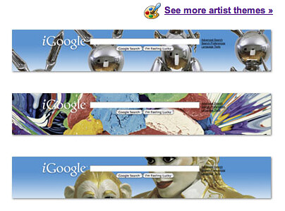 artist themes for iGoogle