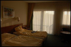 Hotel room / Hotellituba (Eemeez) Tags: window germany hotel bed laptop wesel kaiserhof 18200mmf3556gvr
