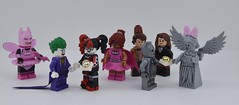 Happy Valentine's day part 1 💍 (Alex THELEGOFAN) Tags: lego legography minifigures minifigure minifig minifigs minifigurine minifigurines movie batman pink valentine valentines day cyberman angel statue doctor who clara the barbara gordon power batgirl joker harley quinn dc comics dimensions